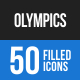 Olympics Blue & Black Icons