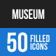 Museum Blue & Black Icons