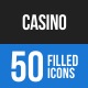 Casino Blue & Black Icons