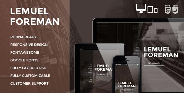LF - One Page Multi Purpose Parallax HTML Theme