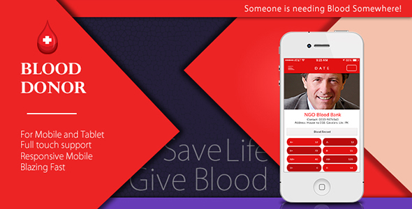 Blood donor app