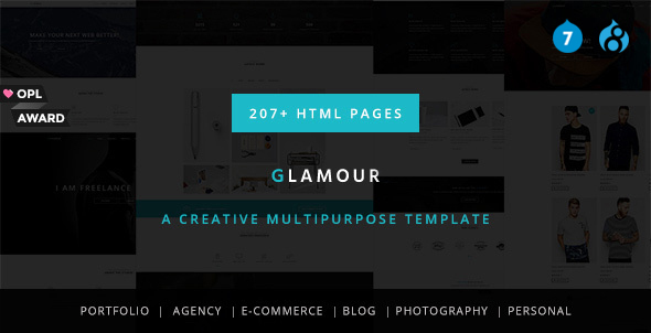 Glamour – Multipurpose OnePage & MultiPage Drupal 7 & 8 Theme