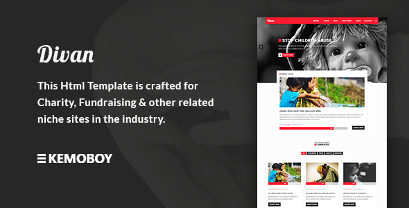 Divan - Charity, Donation & Fundraising HTML Template