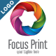 Focus Print - Abstract 3D Star Logo