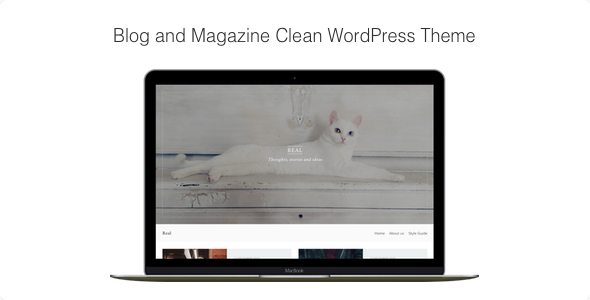 Download Real - Blog and Magazine Clean WordPress Theme nulled download