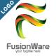 Fusion Ware - 3D Letter F Logo