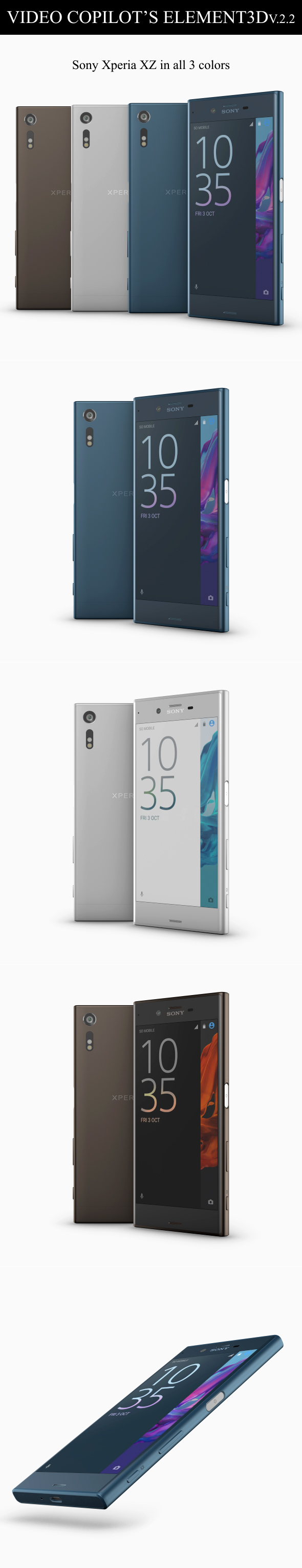 Element3D - Sony Xperia XZ - 3DOcean Item for Sale