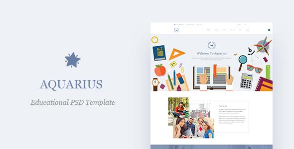 Aquarius - Educational PSD Template