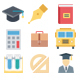 100+ Education Flat Icons