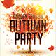 Autumn Party Flyer PSD