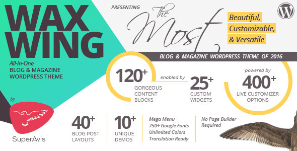 Waxwing – All-in-One Blog and Magazine WordPress Theme (Blog / Magazine) Download