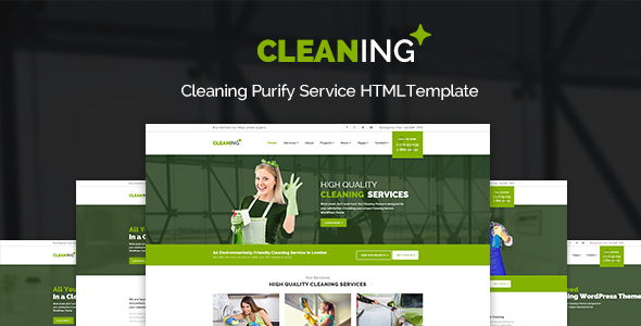 Cleaning - Purify Service HTML Site Template