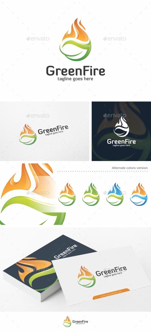 Green Fire - Logo Template