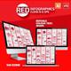 Red Infographics Set