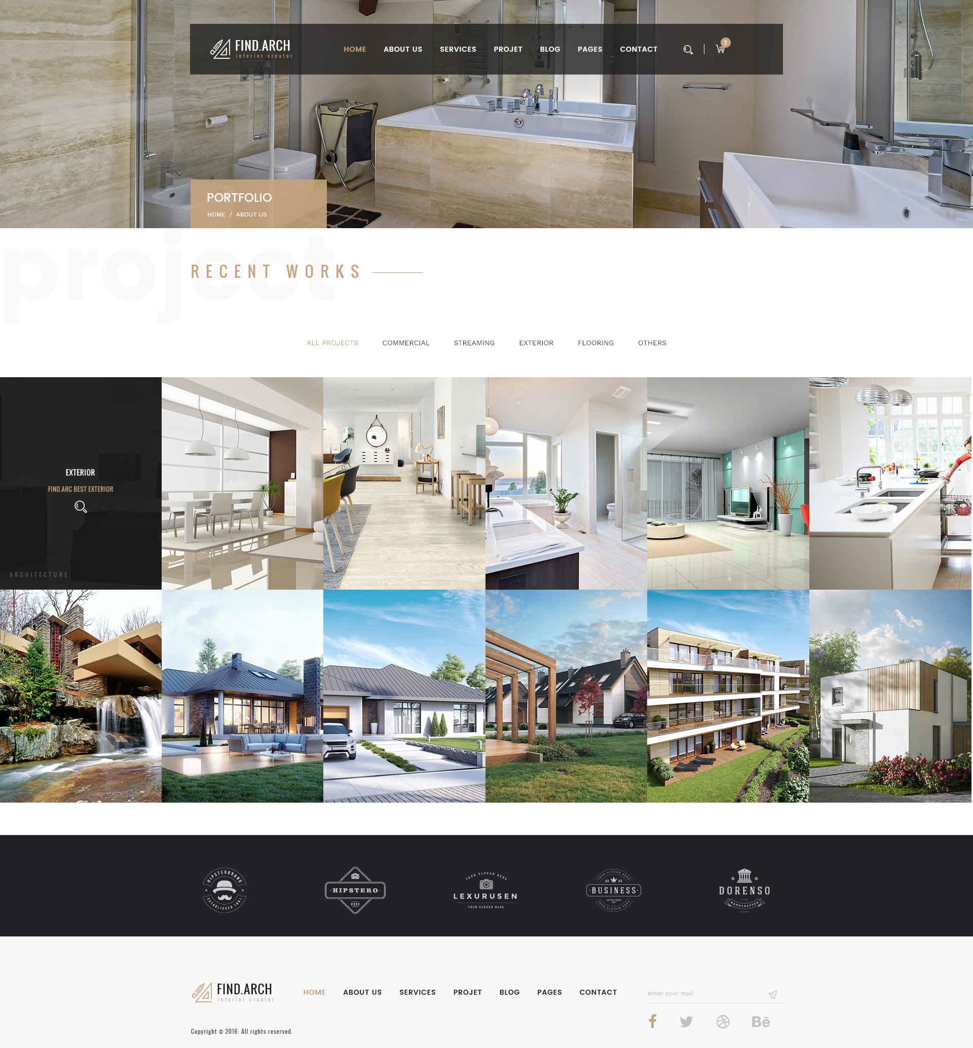 Find. - Interior Design, rchitecture PSD emplate by themegrid - ^