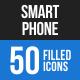 Smartphone Blue & Black Icons