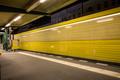 berlin subway metro at night