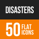 Disasters Flat Round Icons