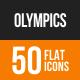 Olympics Flat Round Icons