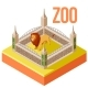 Zoo Lion Isometric Icon