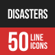 Disasters Filled Line Icons