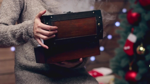 Download Hands Opening a Present Magic Box nulled download