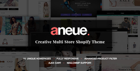 Image of Aneue - Creative Multi-stores Shopify Theme
