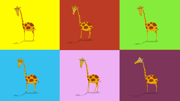 Download Cartoon Giraffe Animation nulled download