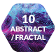 10 Abstract Fractal Backgrounds Textures
