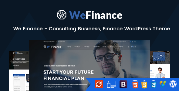 We Finance – Consulting Business enterprise, Finance WordPress Theme (Business enterprise)