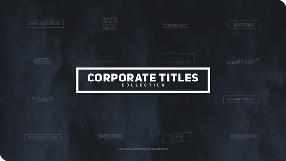 Corporate titles pack corporate envato videohive for Adobe after effects title templates free