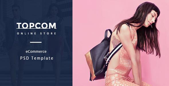 Topcom – eCommerce PSD Template