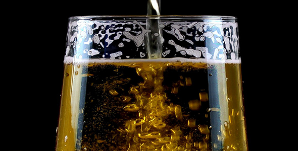 Download Pouring Beer on Black Background nulled download