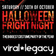Halloween Fright Night V03 Poster and Flyer