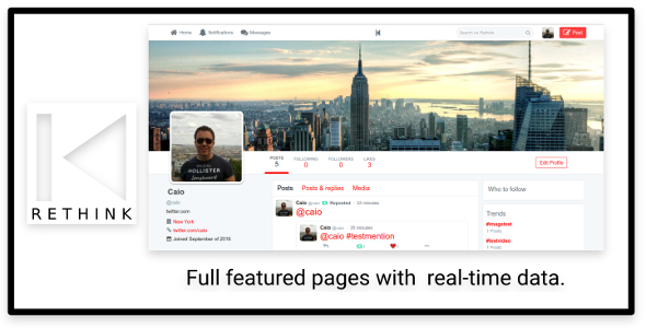 Download Rethink JS - Social Network based on Twitter with JS server nulled download