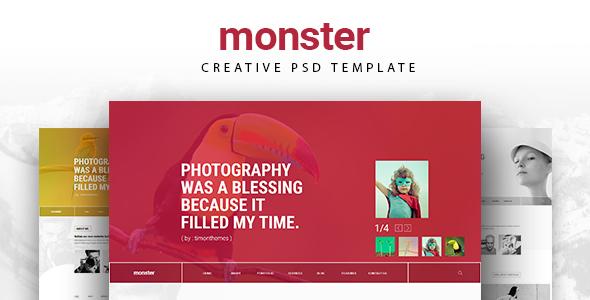 MONSTER - CREATIVE  PSD TEMPLATE
