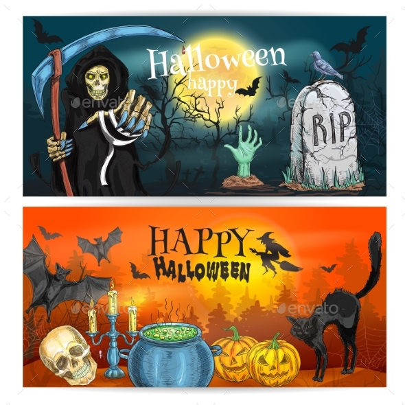 Happy Halloween Decoration Banners