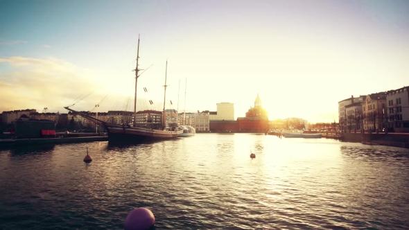 Download Helsinki Landscape At Sunset nulled download