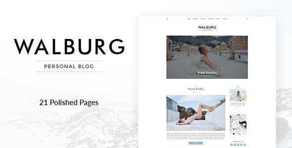 Walburg | Universal Personal Blog Template