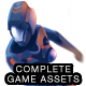 2D Platformer Futuristic Game Kit 2 of 3 - Aliens, Robots & Zombies