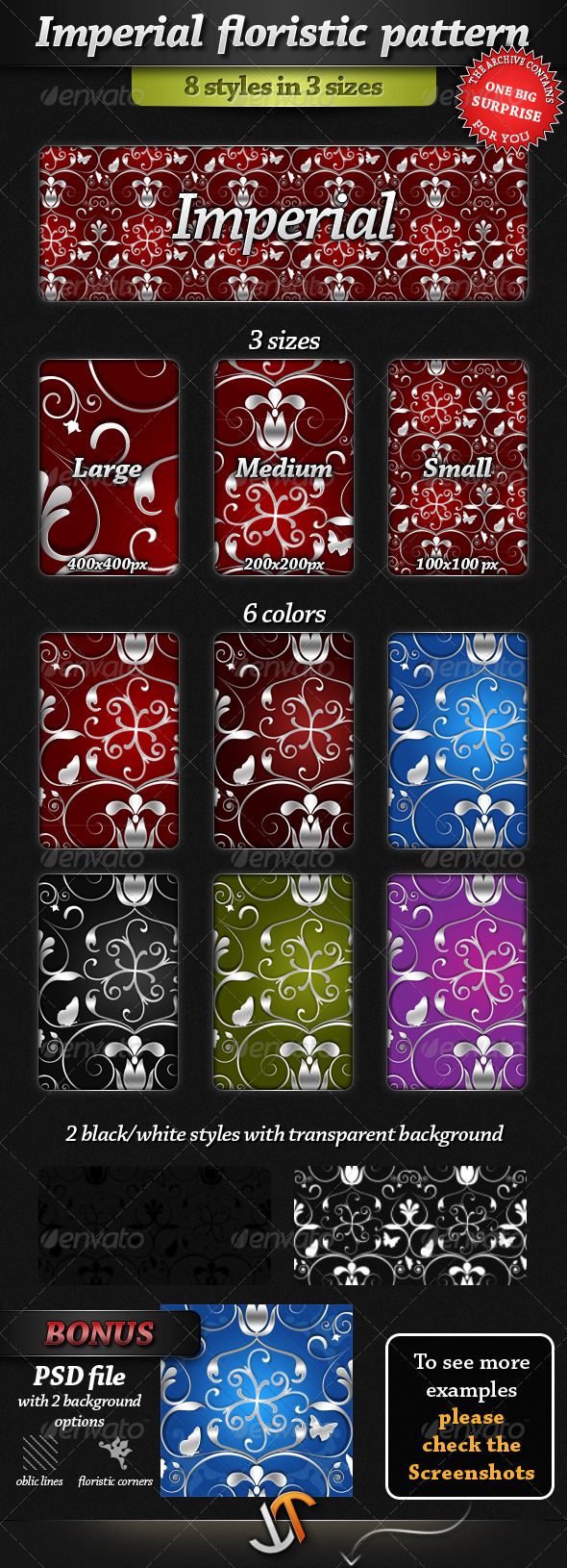 GraphicRiver Imperial Floristic Patterns 211562