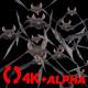 Bat Swarm - Flying Cycle - Front Screen - II - 4K