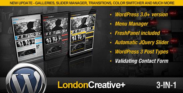 London Creative + (Portfolio & Blog WP Theme) - ThemeForest Item for Sale