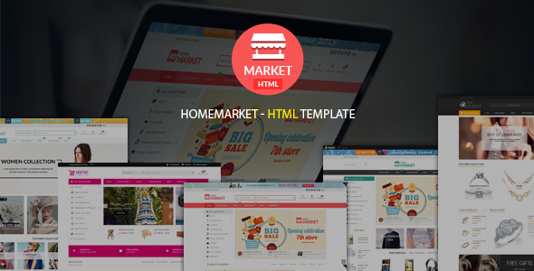Home Market | Creative - Modern - Flexible Responsive eCommerce  HTML Template