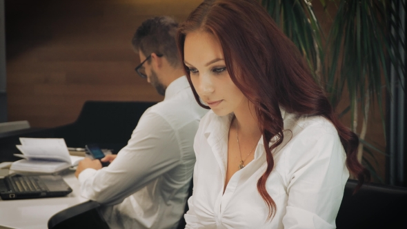 Download Business Lady Working At The Office nulled download