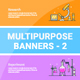 Multipurpose Banners Set 2