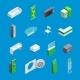 Bank Interior Isometric Elements
