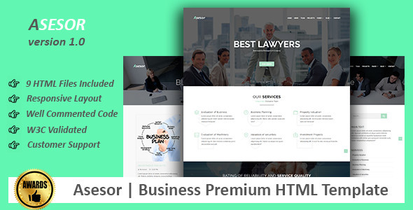 Asesor | Business Premium HTML Template (Business) Download