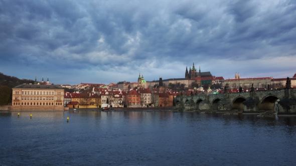 Download Panorama of Charles Bridge, Prague nulled download
