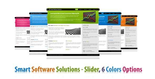 ThemeForest Smart Software Solutions In 6 colors 69978
